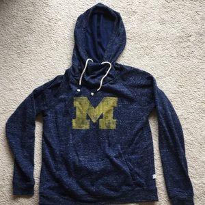 University of Michigan hooded sweatshirt